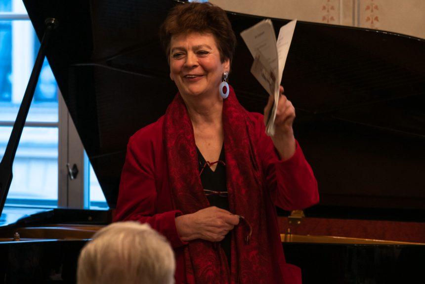 Prof. Beatrix Borchard Lesung im Schumann Saal